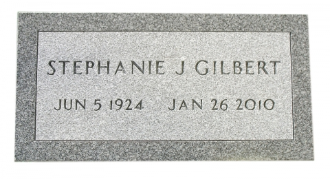 Gray Marker, Veteran Stone (Customized); Government Approved Font