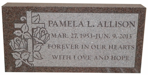 Pink Granite, GMP6 Design, Gumpy Font, Pamela - Forever In Our Hearts, With Love & Hope