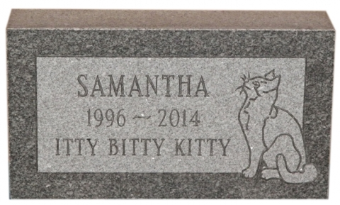 "Gray Granite, Design, GMP3P, Condensed Roman Font, Samantha - ""Itty Bitty Kitty"" in Birmingham, AL"