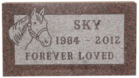 "Pink Granite, GMP22P, Palmer Font, ""Sky Forever Loved"" Memorial Resting In Girard, PA"