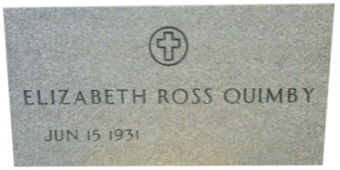 """Gray Marker, Government Style, Custom Marker That Was Ordered As A """"Pre-Need"""". Death Date Will Be Engraved At Cemetery. May Elizabeth Be Blessed With A Long Life."""