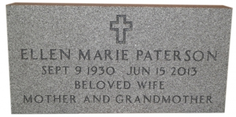 Gray Granite, GMPV2 Design, Government Font, Beloved Wife, Mother & Grandmother, to Match Husband's Memorial