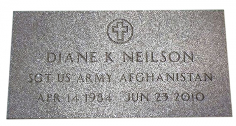 Gray Marker, Veteran Stone, Design GMP31, Government Approved Font
